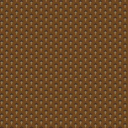 Q- Esther's Heirloom Shirtings - Chestnut Leafy Rings