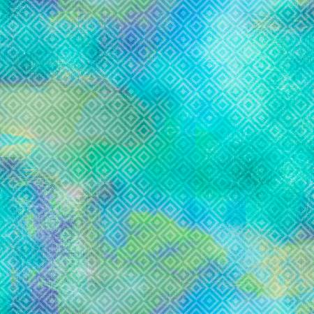 Turquoise Diamond Texture Digitally Printed