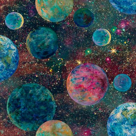 Multi Planets Digitally Printed