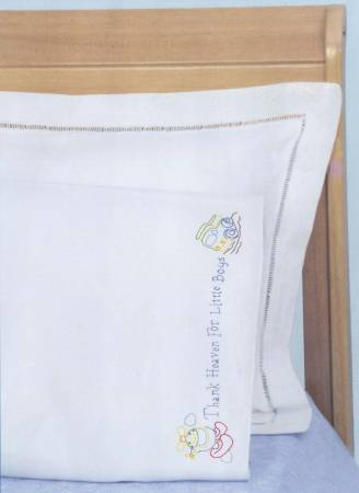 1605-472 Thank Heaven for Little Boys Pillowcase