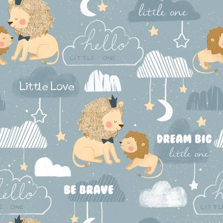 3 Wishes Little Lion Blue Be Brave