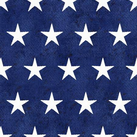 3 Wishes Fabric American Spirit Blue Stars by Beth Albert