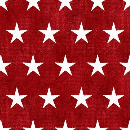 3 Wishes Fabric American Spirit Red Stars by Beth Albert