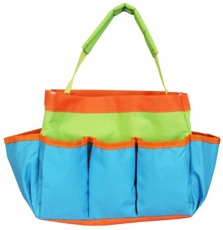 Project Tote Teal Lime and Orange