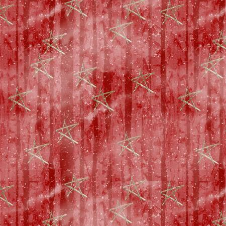 *Snow Days Red Faded Stars