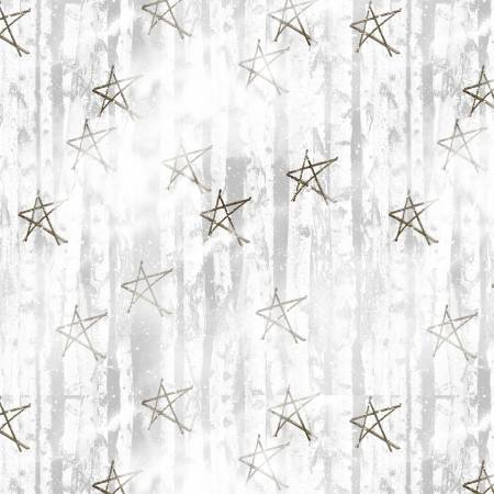*Snow Days Grey Faded Stars