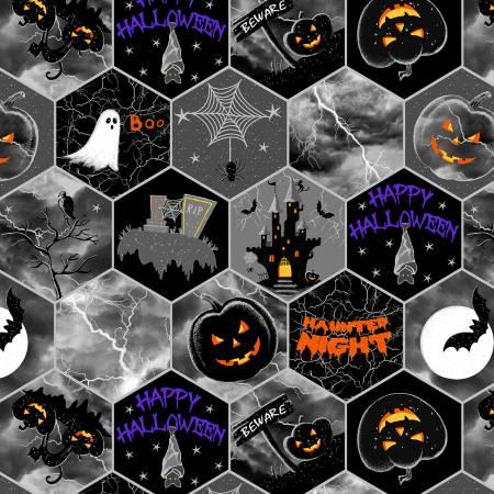 Hocus Pocus Black Honeycomb Halloween w/Metallic