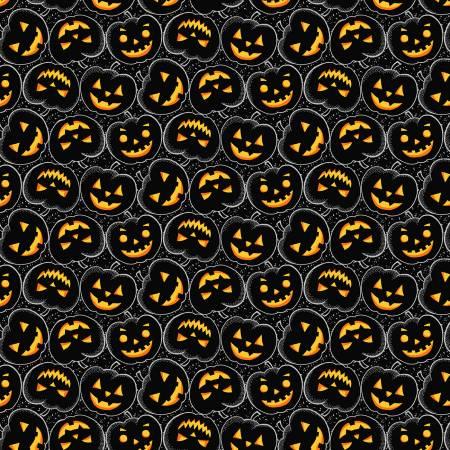 Black Tossed Pumpkins Halloween w/Metallic