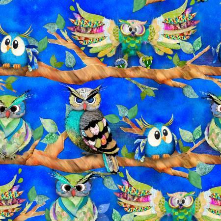 Royal Owls On A Limb