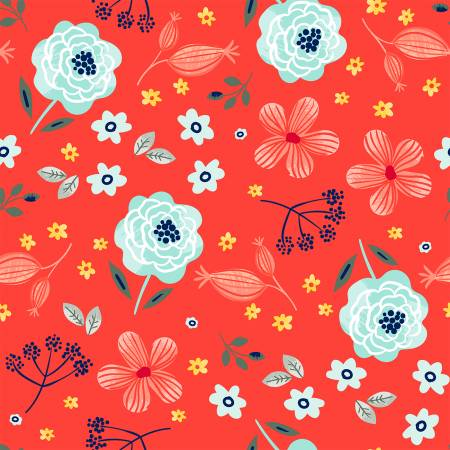 Red Allover Floral