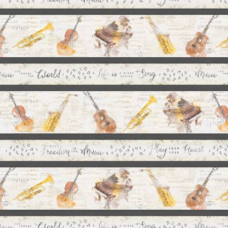 Wilmington Musical Gift Border Print - Multi