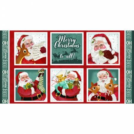 Jolly Ole Soul-Multi 24Repeat Santa 11 Blocks Christmas panel