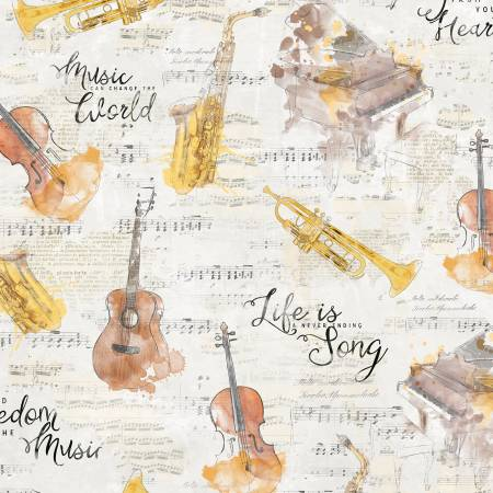 Wilmington Musical Gift Musical Instruments - Cream