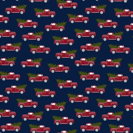RUSTIC JOURNEY RED TRUCK NAVY