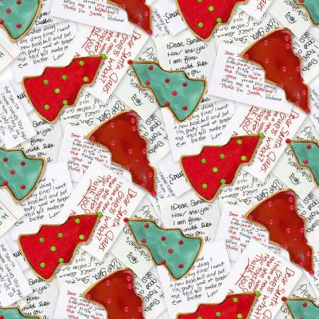 Multi Santa Letters & Cookies Christmas