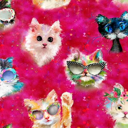 Good Kitty Cat Faces Pink