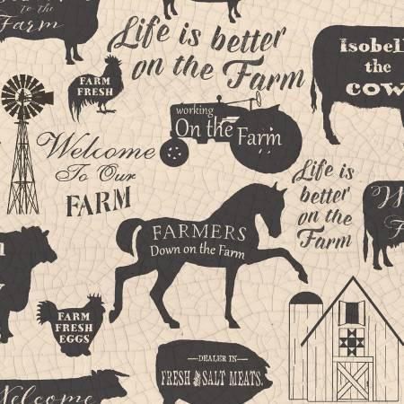 On the Farm - Cream Silhouettes
