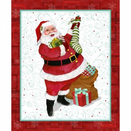 Jolly Ole Soul-36 Santa Panel Christmas-Red