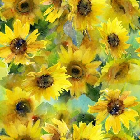 Yellow Sunflowers Digital