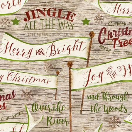 Jingle All The Way - Cream Banners & Signs