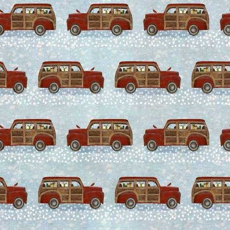 3 Wishes - Jingle All The Way 16627-BLUE Retro Wood Trucks