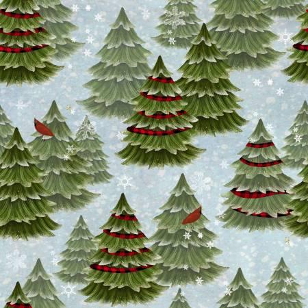 Jingle All The Way - Blue Christmas Trees