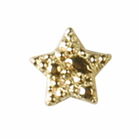 17mm Gold Polyamide Star Button 2 per Card