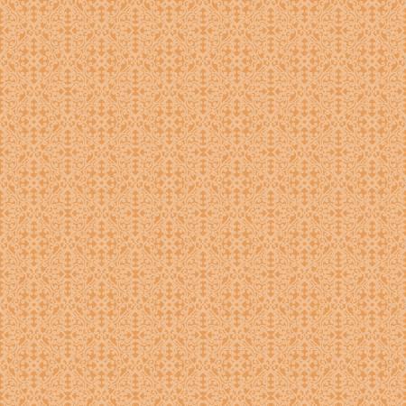Autumn Elegance Light Tangerine Damask Diamond 1673-37
