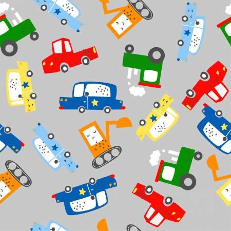Grey Traffic Jam Signs Flannel