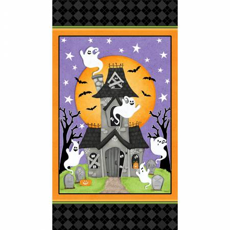 Ghostly Glow Town Panel - Glow in the Dark
