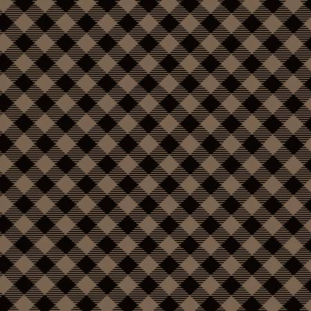 HENRY GLASS  TWILIGHT LAKE Brown/Black Diagonal Check