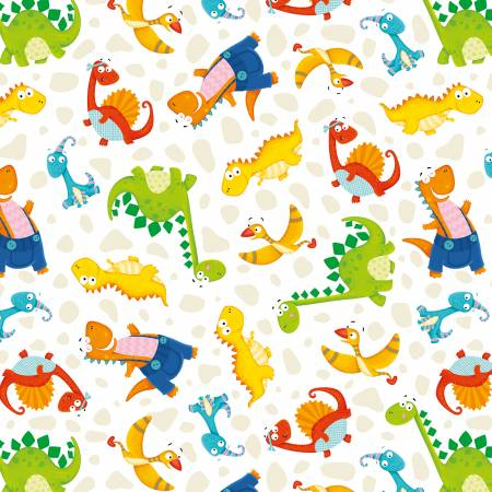 Dino-Mates Small Tossed Dinosaurs White