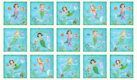 Cream Little Mermaids Panel