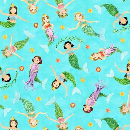 Blue Little Mermaids Toss