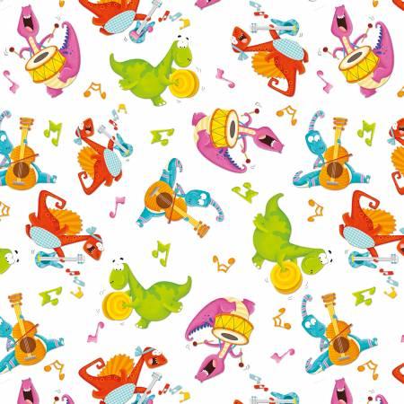 Dino-Mates Musical Dinosaurs White/Multi