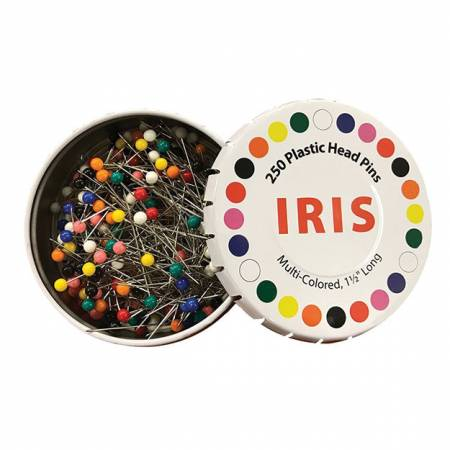 Iris 1-1/2in Multi Colored Head Pins