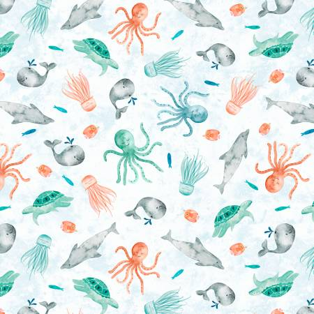 Whaley Loved - White Sea Critters