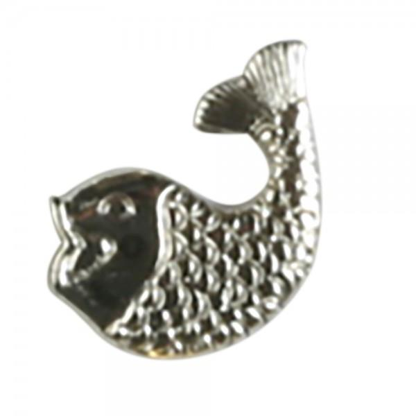 Dill Buttons 370045 Silver Fish