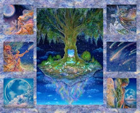 Celestial Journey Tree Small SquaresPanel 34 sm