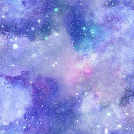 Magical Galaxy Purple Sky w/Glitter