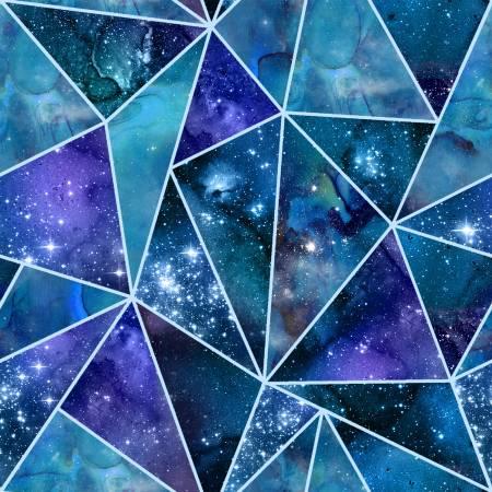 Multi Fractured w/Glitter