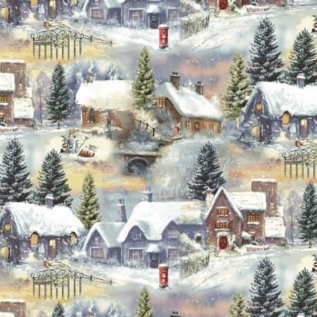 Winter Cottage Home Scene