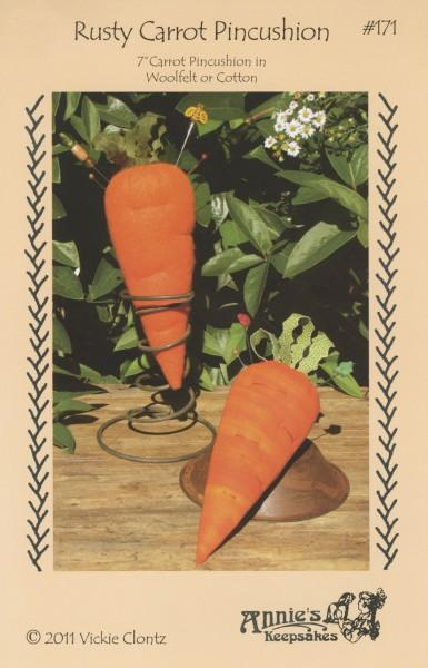 Rusty Carrot Pincushion