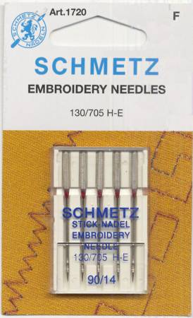 Schmetz Embroidery Machine Needle Size 14/90