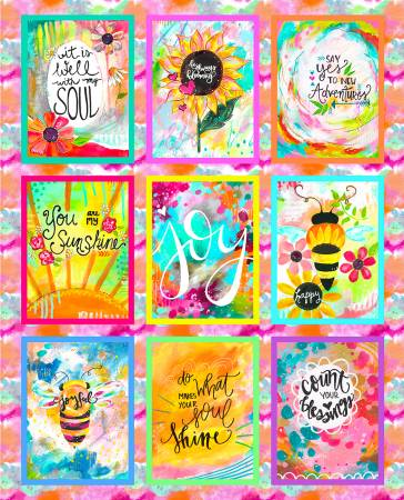 Joy Blooms Panel