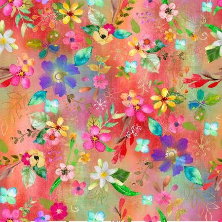 Multi Allover Floral Digital