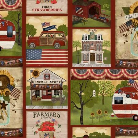 Multi Patriotic Summer Patch
