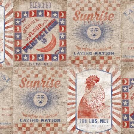 Patriotic Summer - Tan Flour Sacks