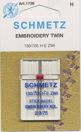 Schmetz Double Machine Embroidery Machine Needle Size 2.0/75 1ct