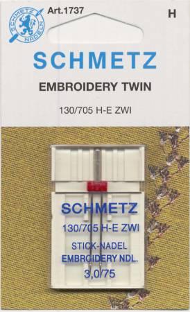 Schmetz Double Machine Embroidery Machine Needle Size 3.0/75 1ct